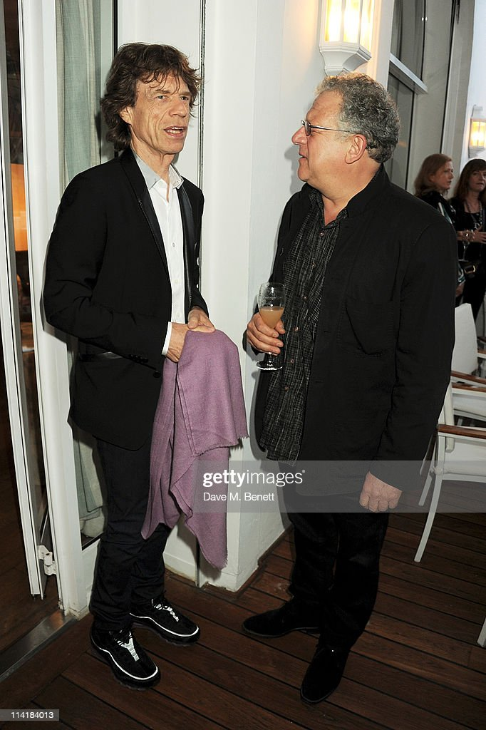 Sir <a gi-track='captionPersonalityLinkClicked' href=/galleries/search?phrase=Mick+Jagger&family=editorial&specificpeople=201786 ng-click='$event.stopPropagation()'>Mick Jagger</a> (L) and producer Jeremy Thomas attend the 3rd Annual Finch's Quarterly Review Filmmakers Dinner honoring Oscar-winning British film producer Jeremy Thomas and sponsored by Tod's and the IWC at Hotel du Cap-Eden-Roc on May 14, 2011 in Cannes, France.