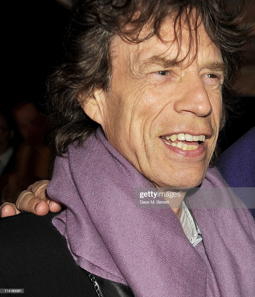 Sir <a gi-track='captionPersonalityLinkClicked' href=/galleries/search?phrase=Mick+Jagger&family=editorial&specificpeople=201786 ng-click='$event.stopPropagation()'>Mick Jagger</a> attends the 3rd Annual Finch's Quarterly Review Filmmakers Dinner honoring Oscar-winning British film producer Jeremy Thomas and sponsored by Tod's and the IWC at Hotel du Cap-Eden-Roc on May 14, 2011 in Cannes, France.