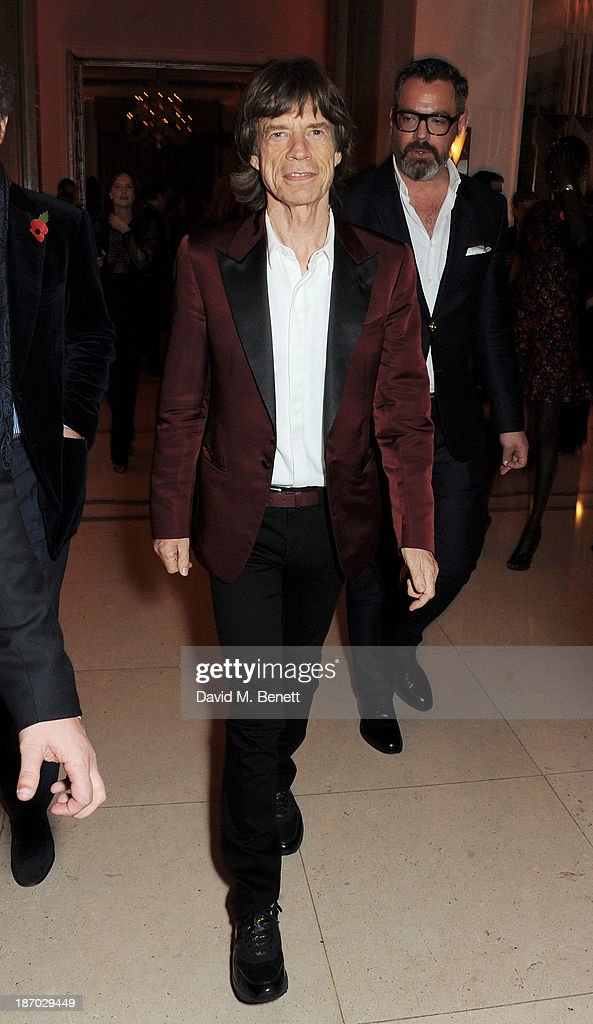 Sir Mick Jagger attends the Harper's Bazaar Women of the Year awards at Claridge's Hotel on November 5, 2013 in London, England.
