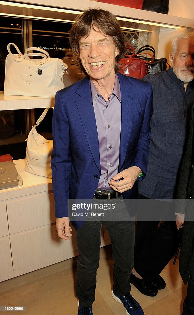 Sir Mick Jagger attends the launch of the Longchamp London flagship store on September 14, 2013 in London, England.