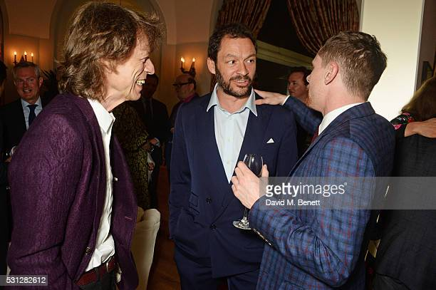 Sir Mick Jagger Dominic West and Jack O'Connell attend The 8th Annual Filmmakers Dinner hosted by Charles Finch and JaegerLeCoultre at Hotel du...
