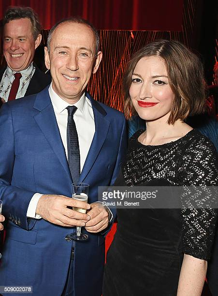 Sir Nicholas Hytner and Kelly Macdonald attend a champagne reception at the London Evening Standard British Film Awards at Television Centre on...