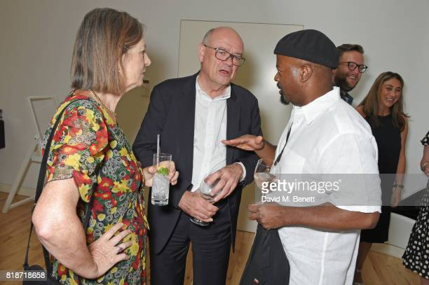 Sir Nicholas Kenyon and Ben Okri attends the Mayor of London's Summer Culture Reception on July 18 2017 in London England