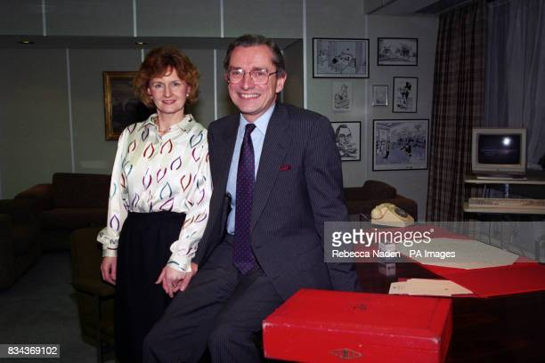 Sir Norman and Lady Fowler at the Department of Employment where he announced his resignation as Employment Secretary to spend more time with his...