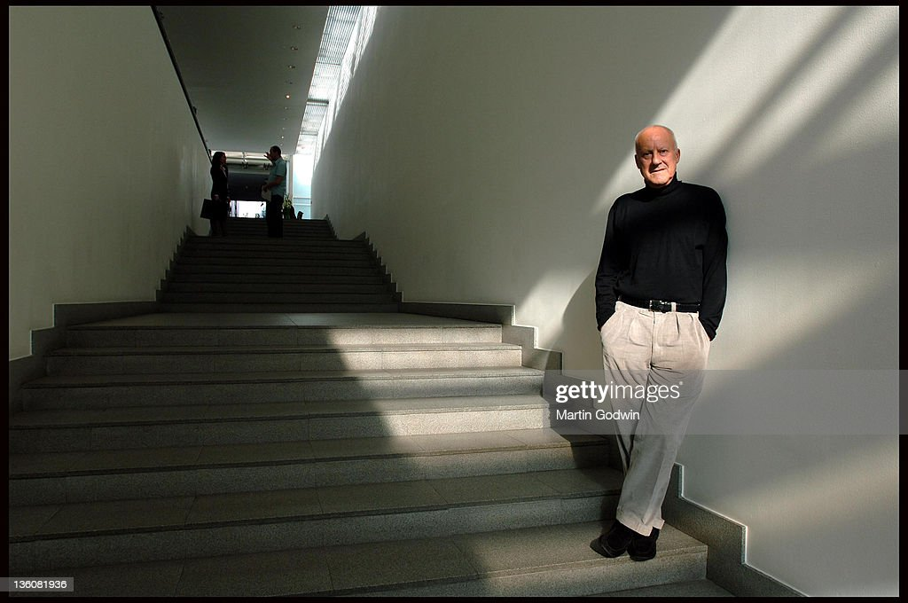 Sir <a gi-track='captionPersonalityLinkClicked' href=/galleries/search?phrase=Norman+Foster&family=editorial&specificpeople=138395 ng-click='$event.stopPropagation()'>Norman Foster</a>, architect, at the head quarters of Foster + Partners in Battersea, London 20th October 2005.
