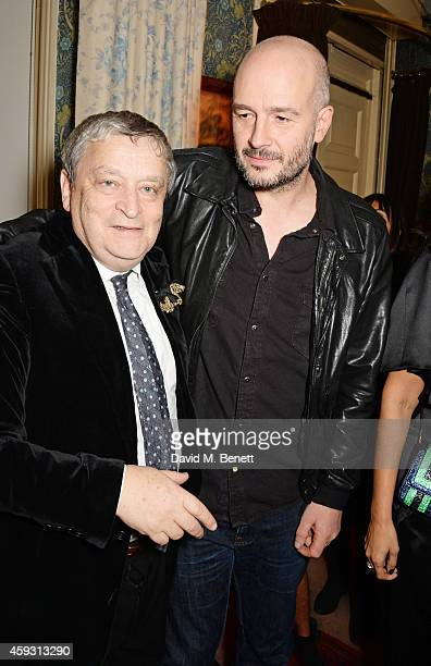 Sir Norman Rosenthal and Jake Chapman attend a party hosted by David Beckham and Alister Mackie to celebrate Another Man Magazine at Mark's Club on...