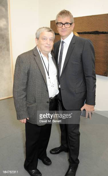 Sir Norman Rosenthal and Jay Jopling attend the VIP preview of the annual Frieze Art Fair in Regent's Park on October 16 2013 in London England