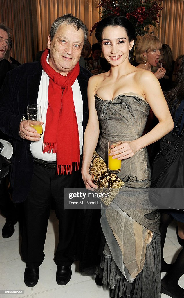 Sir Norman Rosenthal (L) and Tamara Rojo attend the English National Ballet Christmas Party at St Martins Lane Hotel on December 13, 2012 in London, England.
