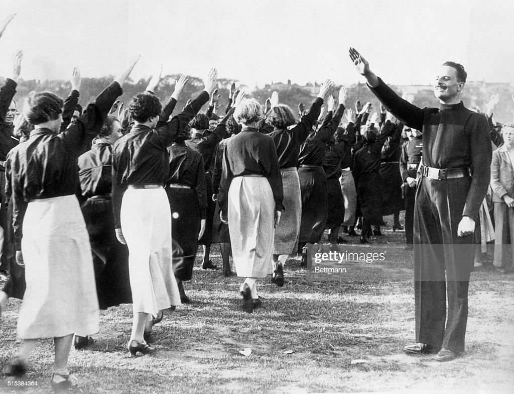 British Fascist Leader Salutes Women Blackshirts Pictures | Getty ...