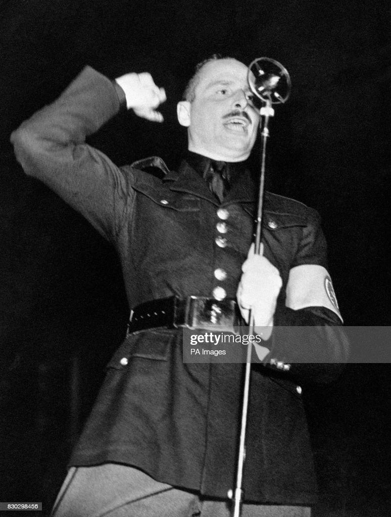 British Politics - Fascists - Sir Oswald Mosley - London - 1936 ...