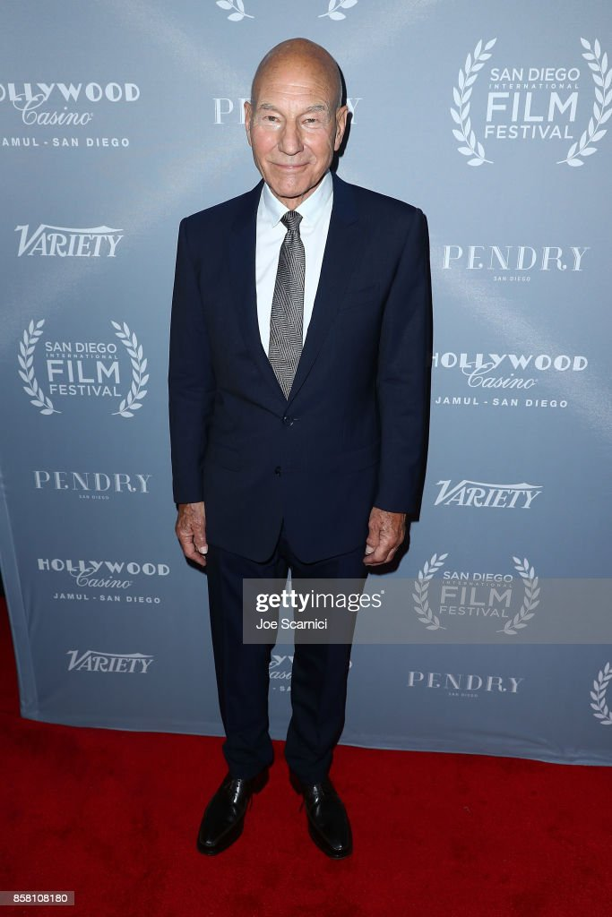 Sir Patrick Stewart arrives at the San Diego International Film Festival's 'Night Of The Stars' at Pendry San Diego on October 5, 2017 in San Diego, California.