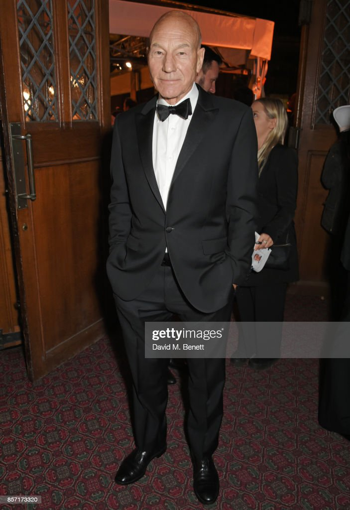 Sir Patrick Stewart attends the BFI and IWC Luminous Gala at The Guildhall on October 3, 2017 in London, England.