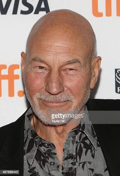 Sir Patrick Stewart attends the 'Green Room/The Chickening' premiere at Ryerson Theatre during the 2015 Toronto International Film Festival on...