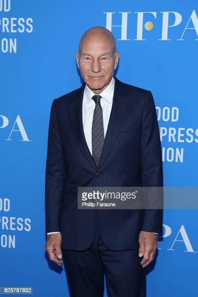 Sir Patrick Stewart attends the Hollywood Foreign Press Association's Grants Banquet at the Beverly Wilshire Four Seasons Hotel on August 2 2017 in...