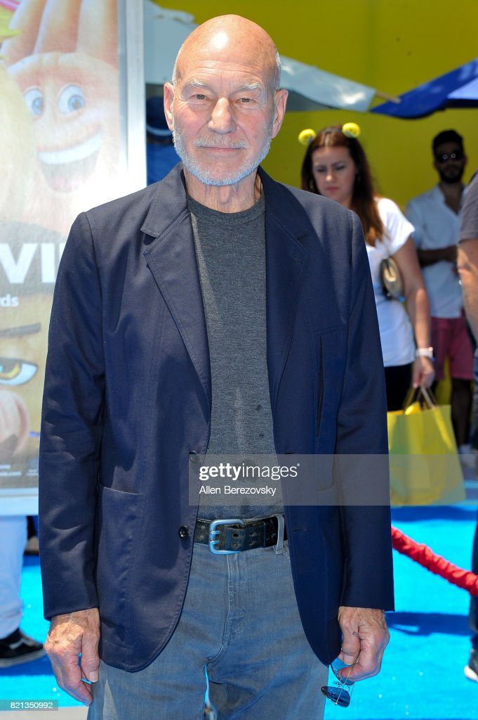 Sir Patrick Stewart attends the premiere of Columbia Pictures and Sony Pictures Animation's 'The Emoji Movie' at Regency Village Theatre on July 23, 2017 in Westwood, California.