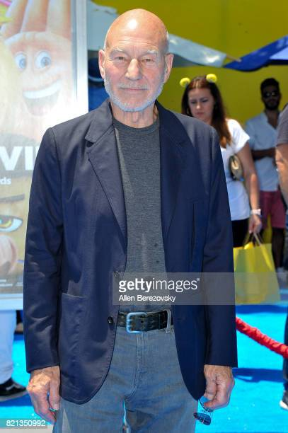 Sir Patrick Stewart attends the premiere of Columbia Pictures and Sony Pictures Animation's 'The Emoji Movie' at Regency Village Theatre on July 23...