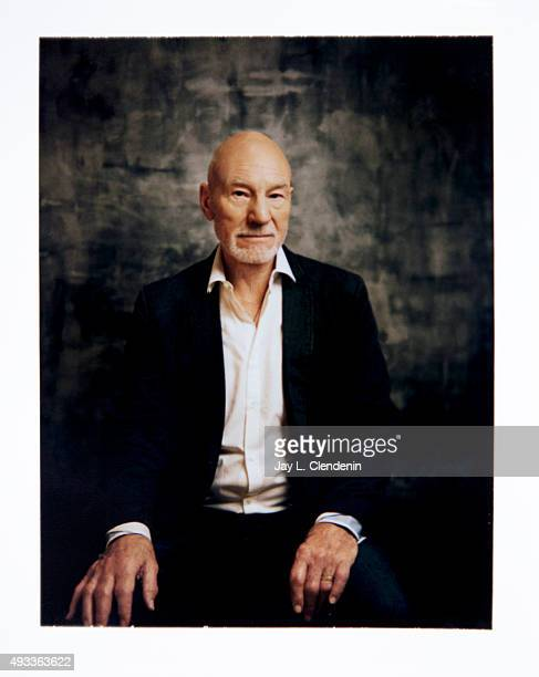 Sir Patrick Stewart from the movie 'Green Room' is photographed on polaroid film for Los Angeles Times on September 25 2015 in Toronto Ontario...
