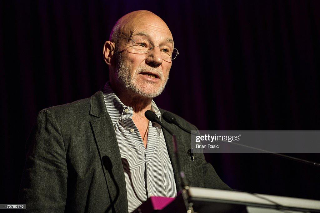 Sir Patrick Stewart speaks during Amnesty International UK celebrate 10th anniversary of headquaters on June 3, 2015 in London, England.