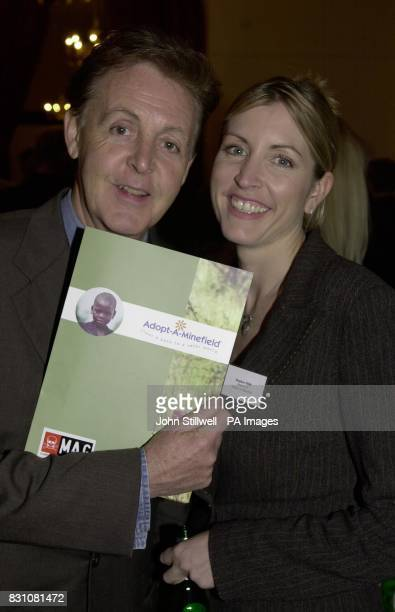 Sir Paul McCartney and fiancee Heather Mills at the launch of the AdoptAMinefield and Mines Advisory Group press conference at the Royal Albert Hall...