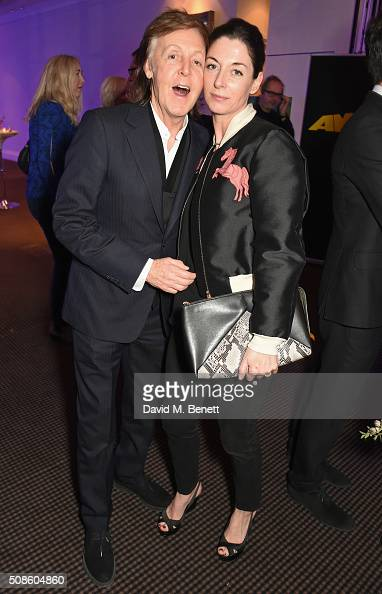 Sir Paul McCartney and Mary McCartney attend a cast and crew screening of 'This Beautiful Fantastic' at BAFTA on February 5 2016 in London England