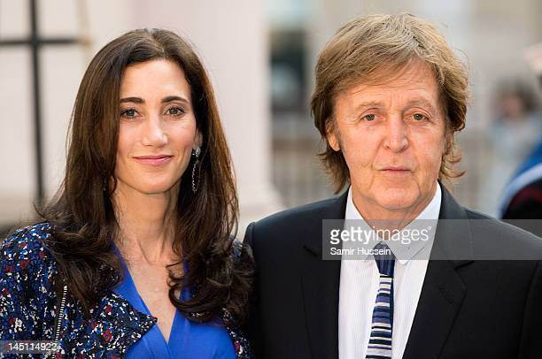 Sir Paul McCartney and Nancy Shevell attend a special 'Celebration of the Arts' event at the Royal Academy of Arts on May 23 2012 in London England