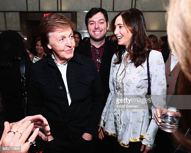 Sir Paul McCartney and Nancy Shevell attend DuJour Media JetSmarter's Ronn Torossian Gilt's Jonathan Greller Jason Binn elit Vodka's celebration of...