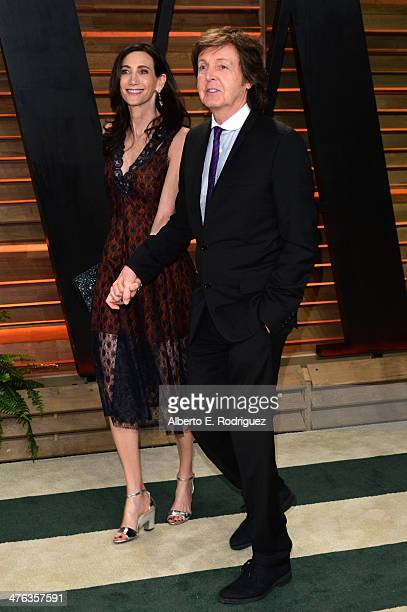 Sir Paul McCartney and Nancy Shevell attend the 2014 Vanity Fair Oscar Party hosted by Graydon Carter on March 2 2014 in West Hollywood California