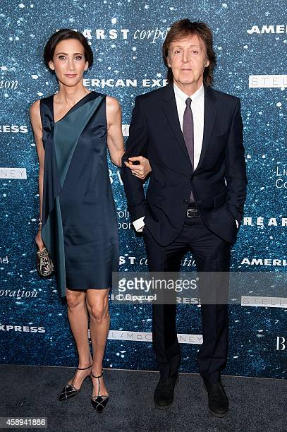 Sir Paul McCartney and Nancy Shevell attend the 2014 Women's Leadership Award Honoring Stella McCartney at Alice Tully Hall at Lincoln Center on...
