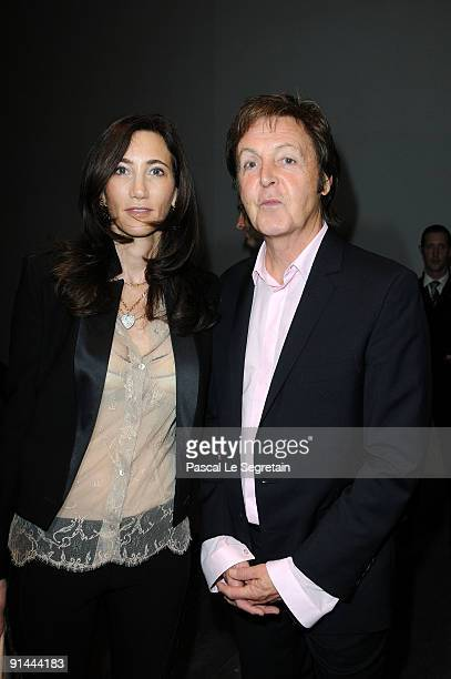 Sir Paul McCartney and Nancy Shevell attend the Stella McCartney Pret a Porter show as part of the Paris Womenswear Fashion Week Spring/Summer 2010...