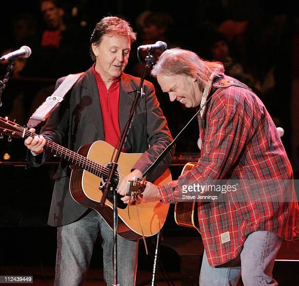 Sir Paul McCartney and Neil Young at the Bridge School Benefit