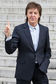 Sir Paul McCartney arrives at the Stella McCartney show as part of the Paris Fashion Week Womenswear Fall/Winter 2016/2017 on March 7 2016 in Paris...