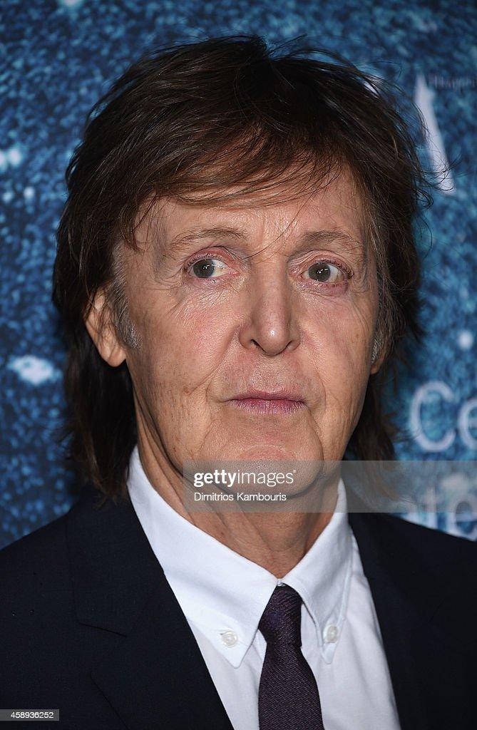 Sir Paul McCartney attends 2014 Women's Leadership Award Honoring Stella McCartney at Alice Tully Hall at Lincoln Center on November 13, 2014 in New York City.