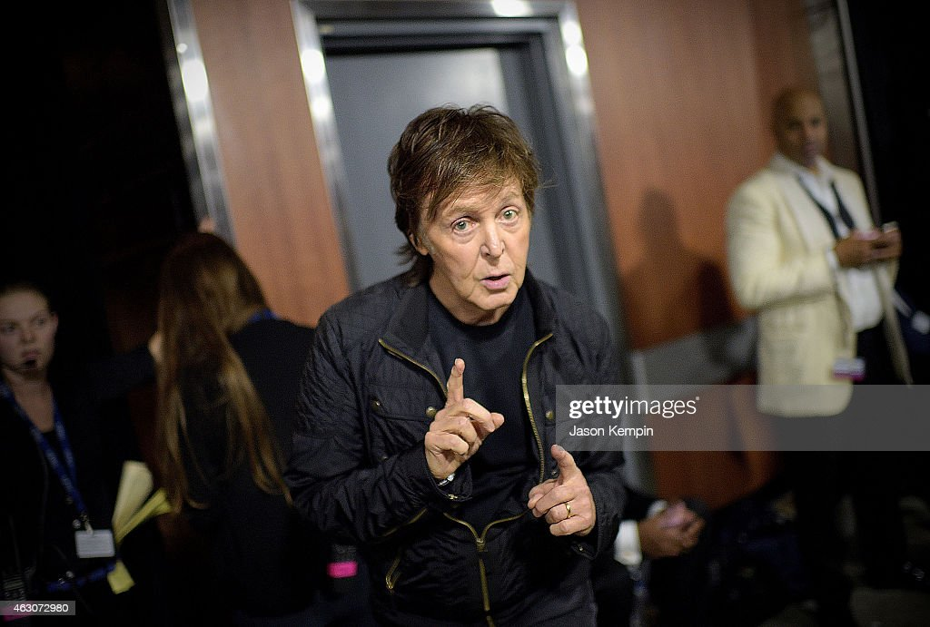 Sir <a gi-track='captionPersonalityLinkClicked' href=/galleries/search?phrase=Paul+McCartney&family=editorial&specificpeople=92298 ng-click='$event.stopPropagation()'>Paul McCartney</a> attends the 57th Annual GRAMMY Awards - Backstage at The Staples Center on February 8, 2015 in Los Angeles, California.