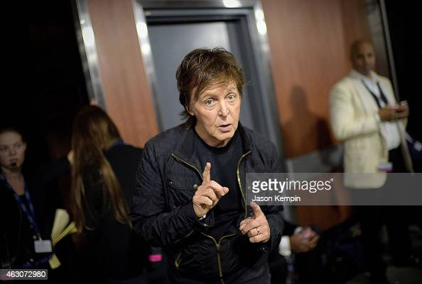 Sir Paul McCartney attends the 57th Annual GRAMMY Awards Backstage at The Staples Center on February 8 2015 in Los Angeles California