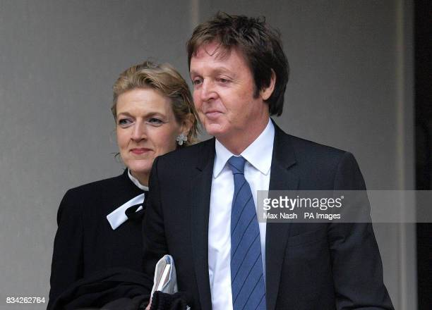 Sir Paul McCartney leaves the High Court in London today with a member of his legal team Fiona Shackleton Heather Mills has today reached a...