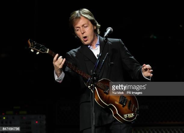 Sir Paul McCartney performs at a Teenage Cancer Trust gig at the Royal Albert Hall London