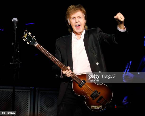 Sir Paul McCartney performs at Barclays Center on September 21 2017 in New York City