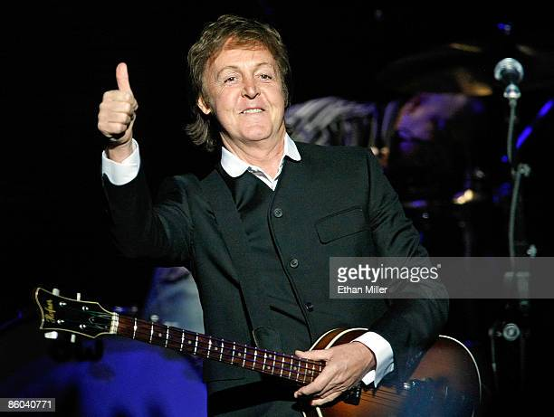 Sir Paul McCartney performs at The Joint inside the Hard Rock Hotel Casino April 19 2009 in Las Vegas Nevada