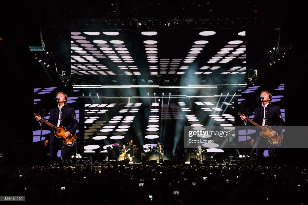 Sir Paul McCartney performs during his One on One Tour at Little Caesars Arena on October 1, 2017 in Detroit, Michigan.