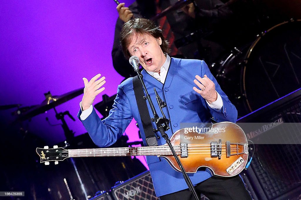 Sir <a gi-track='captionPersonalityLinkClicked' href=/galleries/search?phrase=Paul+McCartney&family=editorial&specificpeople=92298 ng-click='$event.stopPropagation()'>Paul McCartney</a> performs in concert at Minute Maid Park on November 14, 2012 in Houston, Texas.