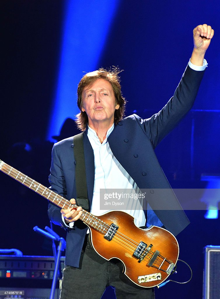 Sir <a gi-track='captionPersonalityLinkClicked' href=/galleries/search?phrase=Paul+McCartney&family=editorial&specificpeople=92298 ng-click='$event.stopPropagation()'>Paul McCartney</a> performs live on stage at The O2 Arena on May 23, 2015 in London, England.