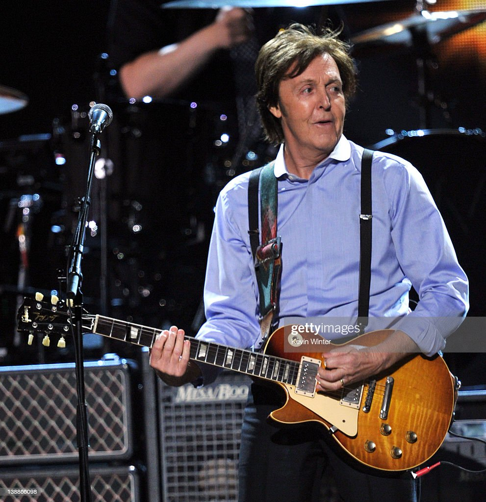 Sir Paul McCartney performs onstage at the 54th Annual GRAMMY Awards held at Staples Center on February 12, 2012 in Los Angeles, California.