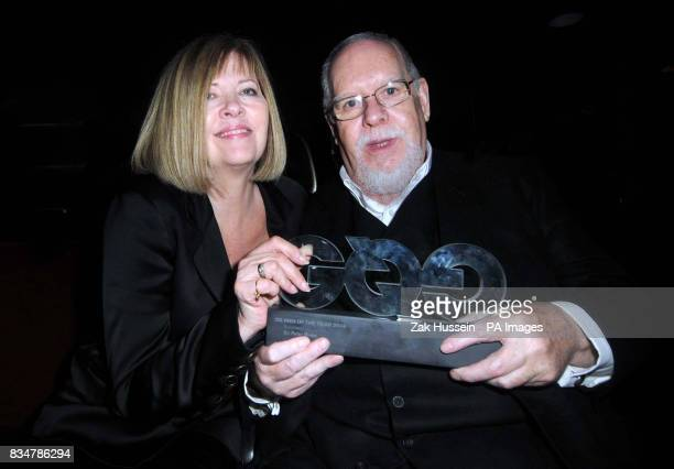 Sir Peter Blake and his wife Chrissy pictured during the GQ Men Of The Year Awards after party at the Royal Opera House in Covent Garden central...