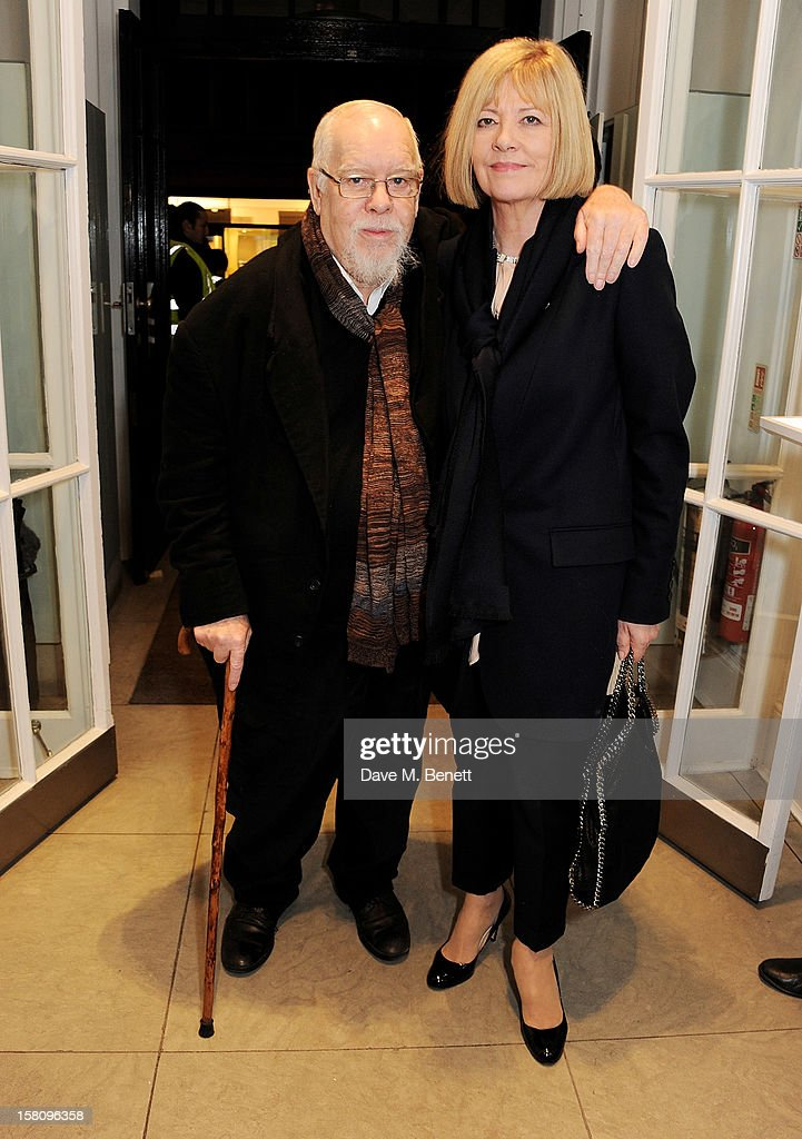 Sir Peter Blake and Lady Chrissy Blake attend the switchingon of the Stella McCartney Bruton Street store Christmas lights on December 10 2012 in...