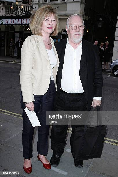 Sir Peter Blake and wife attend the launch party of publication of 'Told The Art Of Story' at St Martins Lane Hotel on June 8 2009 in London England