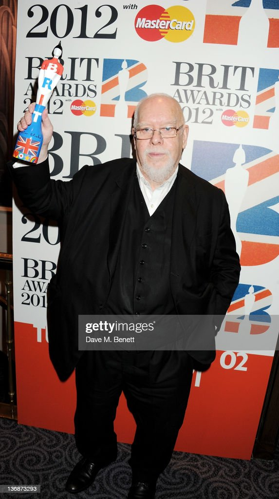 Sir <a gi-track='captionPersonalityLinkClicked' href=/galleries/search?phrase=Peter+Blake&family=editorial&specificpeople=239082 ng-click='$event.stopPropagation()'>Peter Blake</a> attends the nominations announcement for The BRIT Awards 2012 at The Savoy Hotel on January 12, 2012 in London, England.