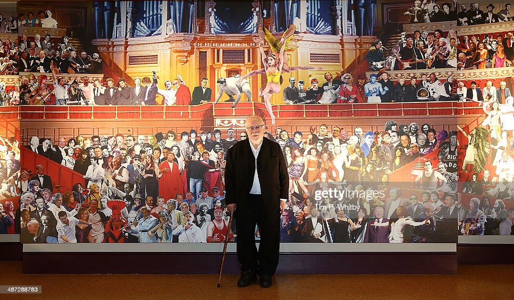 Sir Peter Blake attends the unveiling of his new mural at the Royal Albert Hall on April 29 2014 in London England