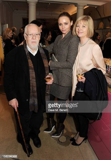 Sir Peter Blake Stella McCartney and Chrissy Blake attend the switchingon of the Stella McCartney Bruton Street store Christmas lights on December 10...