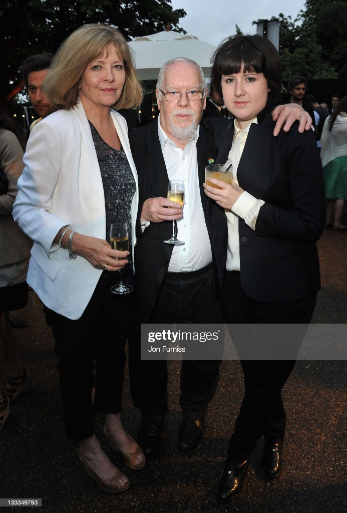 Sir Peter Blake with his wife Jann Haworth and daughter Rose attends The Serpentine Gallery Summer Party on June 28 2011 in London England
