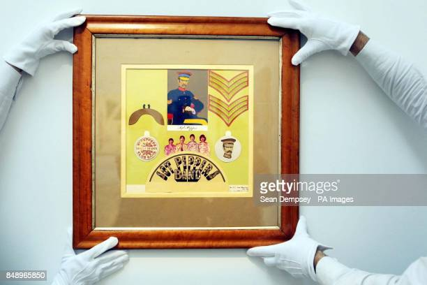 Sir Peter Blake's artwork from the Beatles' Sgt Pepper's Lonely Hearts Club Band album is coming up for auction at Sotheby's with a estimated sale...